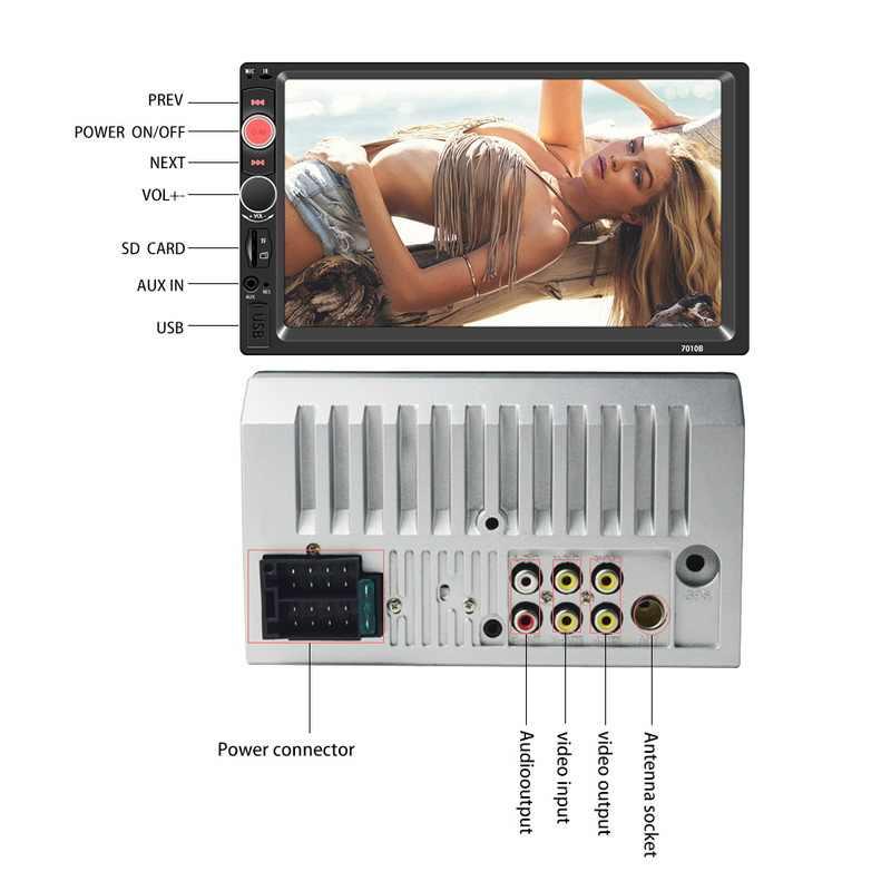 7 インチ 2 喧騒の Bluetooth ラジオオーディオビデオステレオとリアビューカメラ USB TF AUX-fm タッチスクリーン MP5 プレーヤーミラーリンク