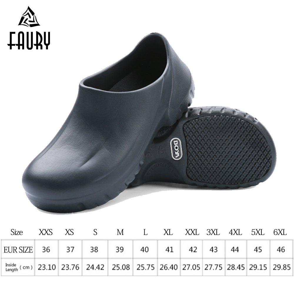 Chef Work Shoes Summer Breathable Reasturant Master Cook Footwear Unisex Super Non-slip Shoes EVA Hotel Garden Shoes Black White france tigergrip waterproof work safety shoes woman and man soft sole rubber kitchen sea food shop non slip chef shoes cover