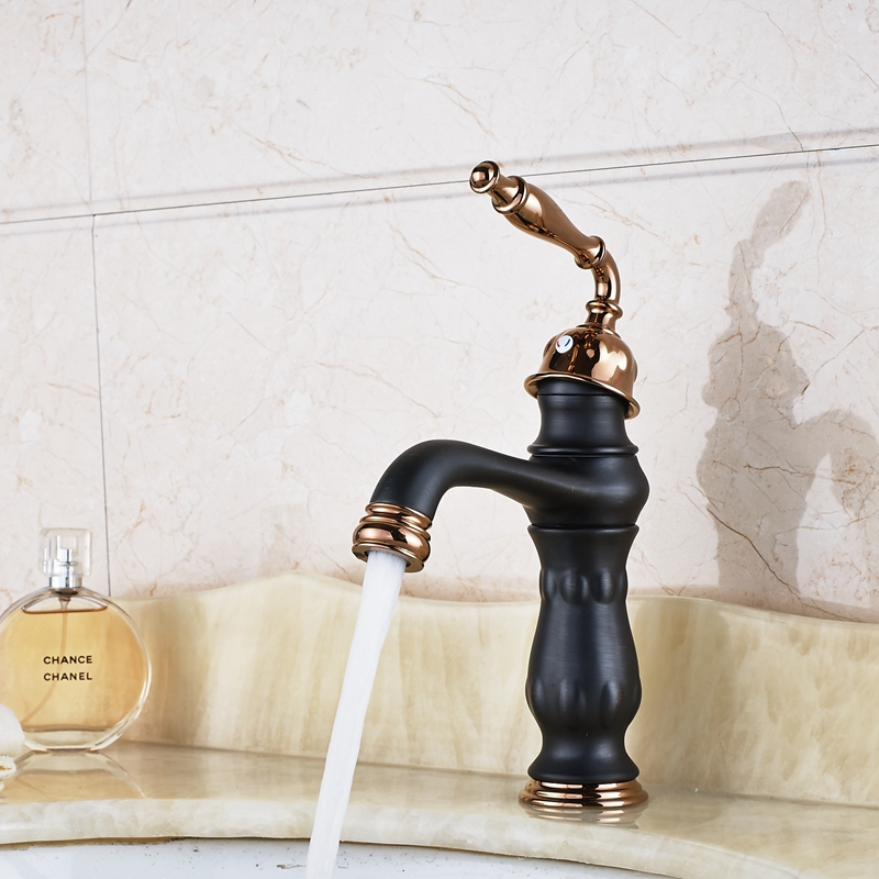 Deck Mount Oil Rubbed Bronze Bathroom Faucet Single Handle Basin Sink Mixer Tap deck mount countertop bathroom kitchen faucet single handle tall basin sink mixer taps oil rubbed bronze