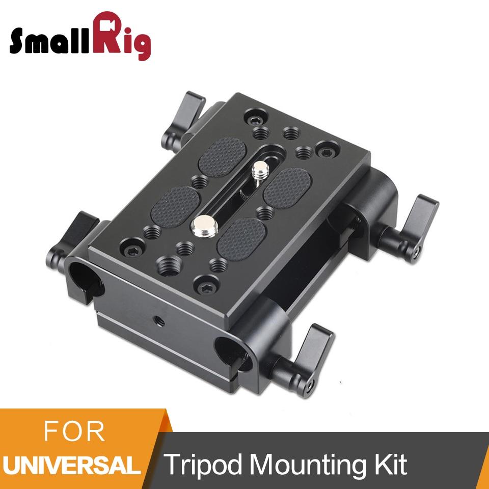 Plaque de montage de trépied de plaque de montage de caméra de petite Plate-forme avec la plaque de base de libération rapide de Dslr de Support de rail de bride de tige de 15mm-1798