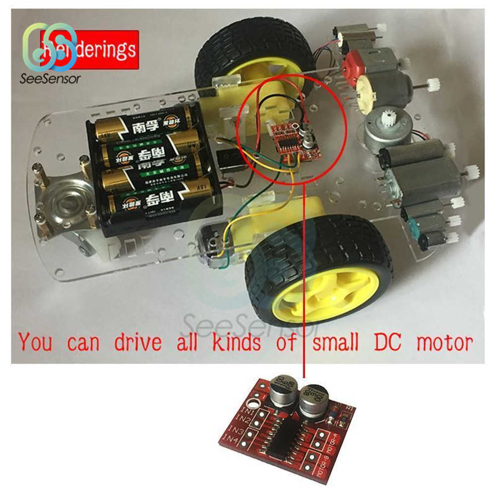5 pièces 1.5A 2 voies MX1508 DC Module de Commande De Moteur de Vitesse PWM Double Pont en H Moteur pas à pas L298N