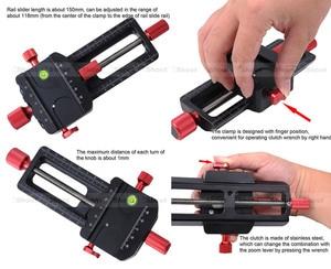 Image 4 - 150mm macro focando trilho slider close up tiro cabeça com arca swiss ajuste braçadeira placa de liberação rápida para tripé ballhead