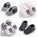 4 Styles Fashion PU Leather Infant Toddler Newborn Baby Polka Dots Fringe First Walkers Baby Moccasins Soft Moccs Shoes Footwear