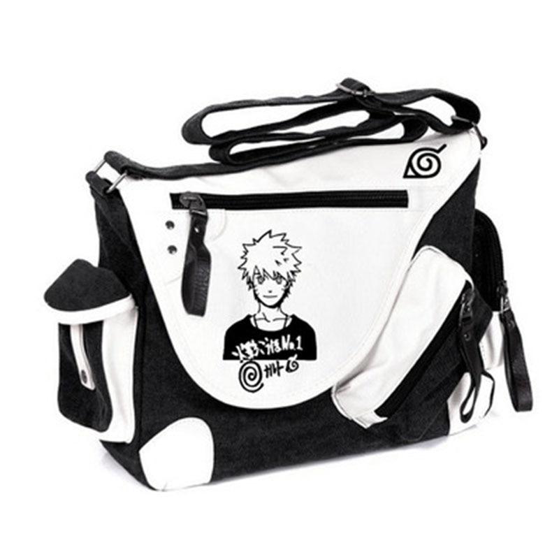 Japan Anime Naruto Messenger Bag Naruto Uzumaki Printing Shoulder Travel Bags Students Schoolbag
