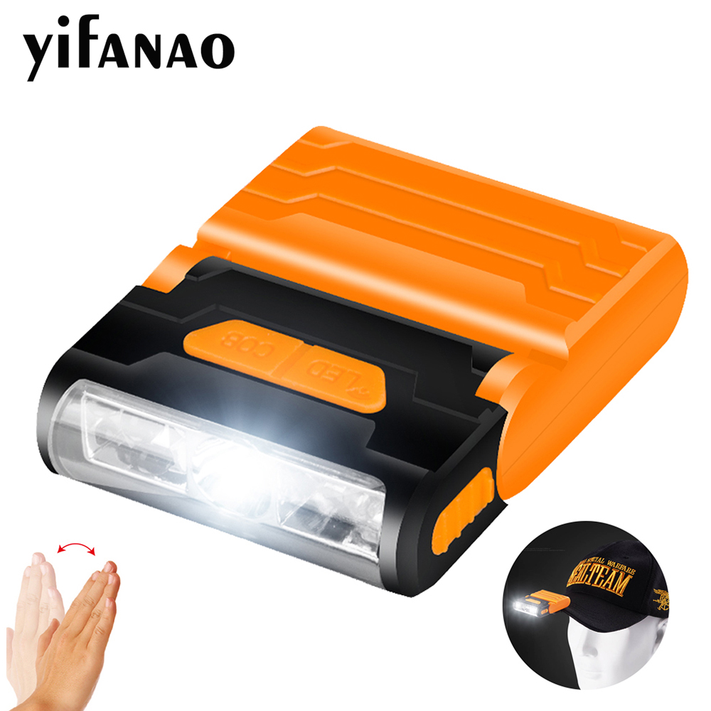 Rechargeable Body Motion Sensor LED Headlamp Induction Hat Clip Light Adjustable Lamp Cap Waterproof Built-in Lithium BatteryRechargeable Body Motion Sensor LED Headlamp Induction Hat Clip Light Adjustable Lamp Cap Waterproof Built-in Lithium Battery