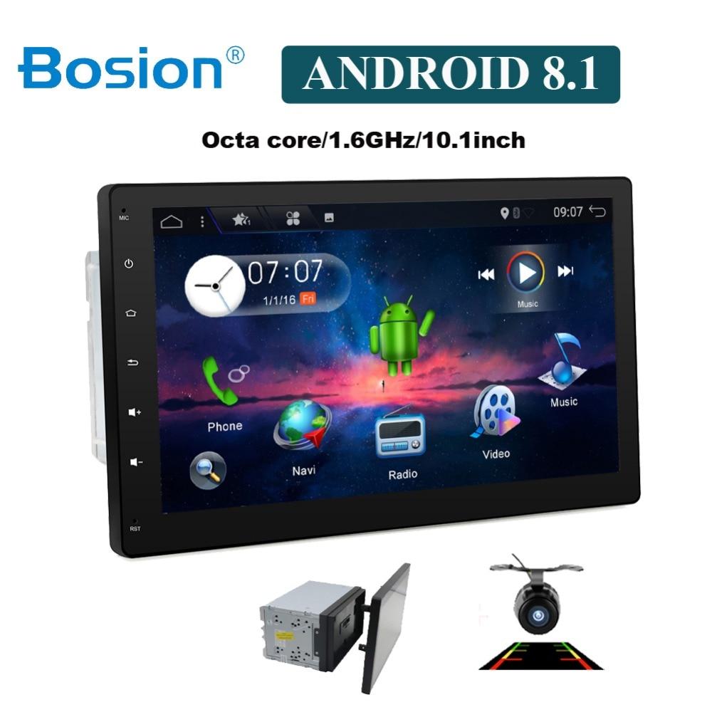 10 pouces 8 Core 2 DIN universel Android 8.1 voiture Audio GPS Radio lecteur vidéo stéréo Auto BT RDS unité de tête 2din avec wifi usb sd