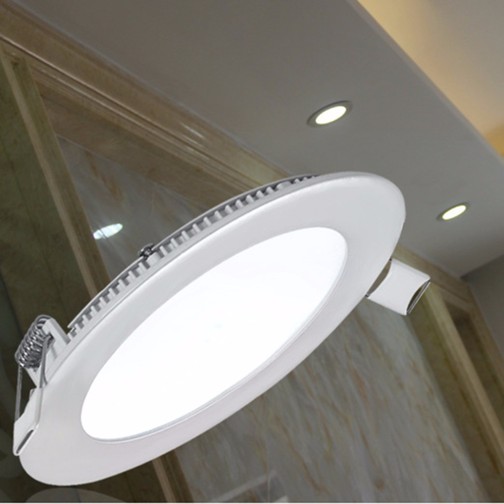 LED ultra thin downlight round panel light white ceiling lamp living room embedded Ceiling Panel Down Lamp warm white cold white стоимость