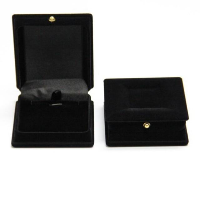 2017 New Hot Practical Black Velvet Jewelry Box Ring Earrings