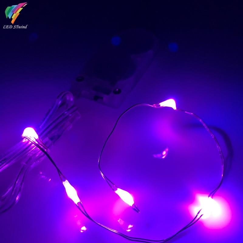 eccad36c709 Pila de botón Con Pilas 5 LED Alambre De Cobre de Color Plata Mini Hadas  Luces de la Secuencia Del Banquete de Boda De Vacaciones de Navidad 8  colores en ...