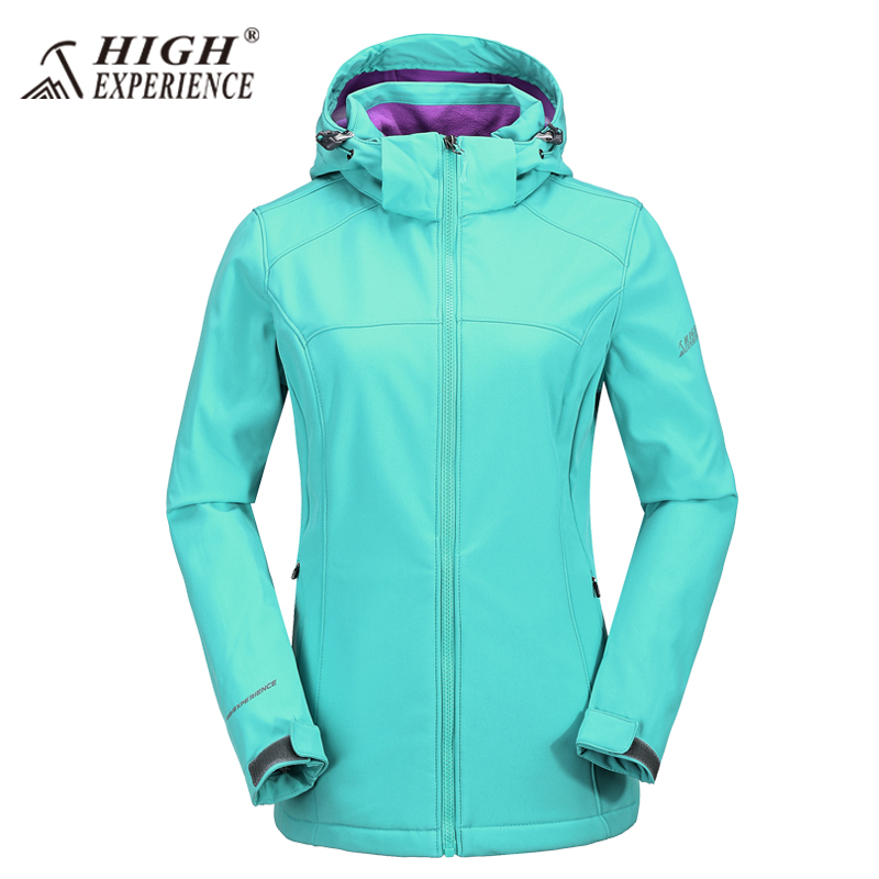 Outdoor sports Soft shell Jackets woman Autumn And Winter Fleece jacket Windproof Breathable Keep warm Hooded jacket