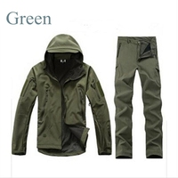 New Hunting Clothes Outdoor Lurker Shark Skin TAD Tactical Millitary Softshell Jacket Suit Men Waterproof Combat