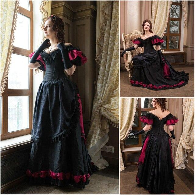 Geschichte kunde-gebildete cosplay renaissance dress vintage kostüme  viktorianischen dress steampunk dress gothic halloween dress d0321a4587cb