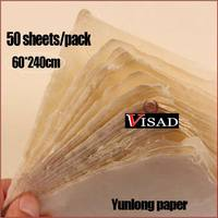 50 sheets/pack Chinese Xuan Paper for calligraphy and painting,hand made Paper rice paper 60*240cm free shipping