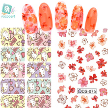 цена на DS037 Water Transfer Foils Nail Art Sticker Cartoon Hello Kitty Design Manicure Decals Minx Nail Decorations Patch New 2015