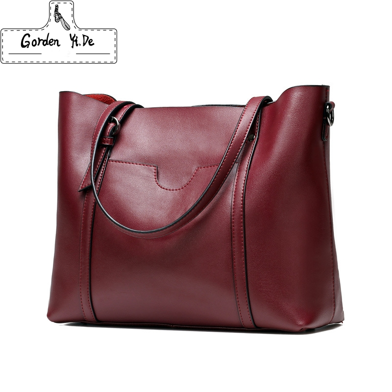 100% Genuine Leather Women Bag Ladies Women Shoulder Bags 2018 New Fashion Designer Handbags High Quality Famous Brands Tote Bag designer handbags high quality female fashion genuine leather bags handbags women famous brands women handbag shoulder bag tote