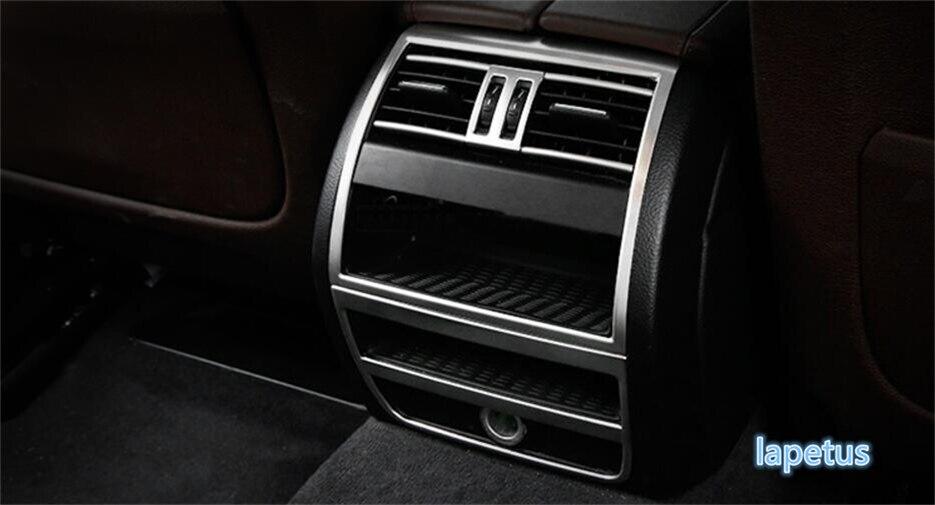 Pour BMW série 5 520i 525i 530i F10 F18 2011-2016 en acier inoxydable accoudoir arrière boîte AC climatisation sortie couvercle de ventilation