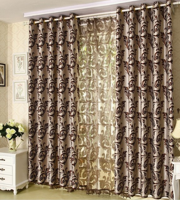 Curtains For Bedroom Jacquard Modern Curtain Living Room Window Treatment D Blackout Blinds Panels