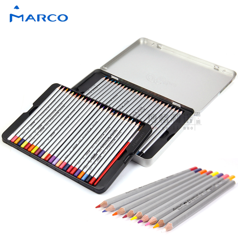 Marco 48 Colors Advanced Professional Water-soluble Color Pencil Iron Boxed Student Stationery School Supplies 7120-48tn objective ielts advanced student s book with cd rom