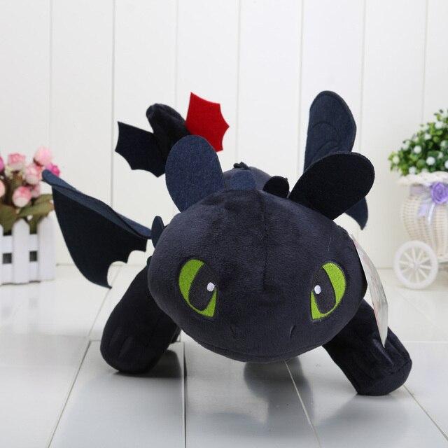 Tamanho grande 40 cm/23 centímetros Como treinar O Seu Dragão Desdentado Fúria Da Noite Luz Fúria Plush toys Boneca brinquedo macio Recheado