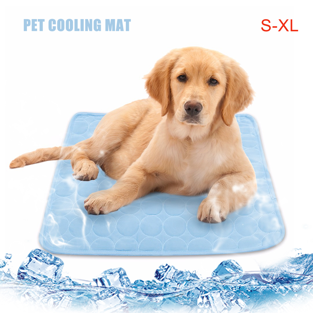 c74a16e03ff3 Colchoneta enfriadora para mascotas de verano para colchón de cama  pequeño/mediano/grande para perros/gatos productos de verano para perros  S/M/L/XL