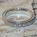 Superb 3.5mm Luxo qualidade NSCD simulado diamante do vintage cheio eternidade anel wedding band anel Para A Festa de aniversário DR096