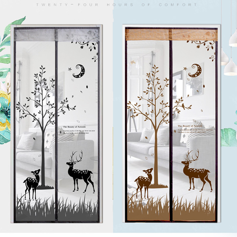 Anti mosquito Elk Door Window Screen Magic Magnetic 2018 Insect Fly Upgrade Encryption Wire Mesh Door Flies Curtains For Coors