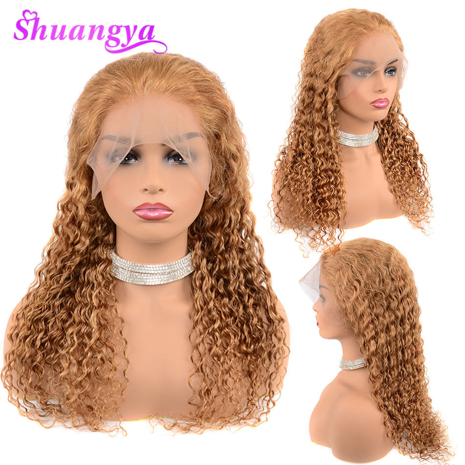 Peruvian Honey Blonde 13 4 Lace Front Human Hair Wigs For Black Women With Baby Hair
