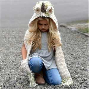 Image 3 - Bentoy 3 10 سنوات الفتيات الشتاء يونيكورن قبعة وشاح لطيف اليدوية الاطفال قبعة التفاف يونيكورن قبعات للأطفال الدافئة الصوف والأوشحة قبعة