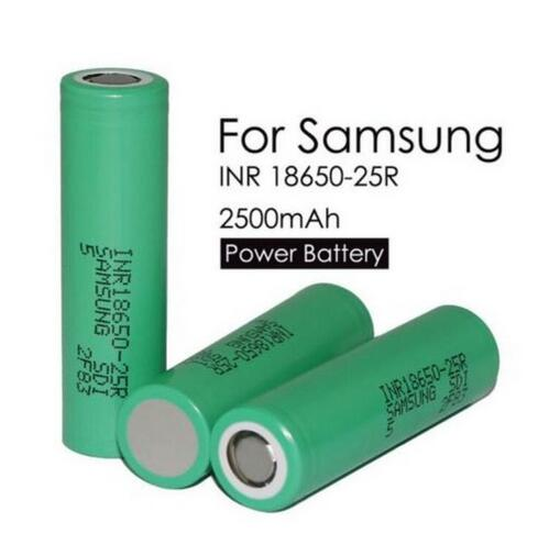 3PCS/lot For Samsung Original 18650 25R INR1865025R 20A Discharge Lithium Batteries, 2500mAh Electronic Cigarette Power Battery