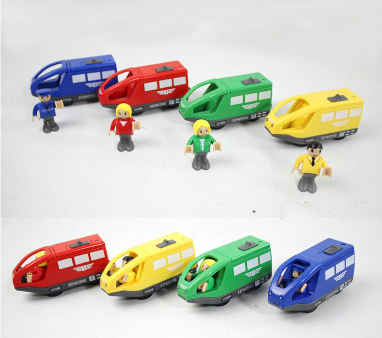 EDWONE Hot Sale Electric Train <font><b>Toy</b></font> Motorized Fit Mini Electric Train <font><b>Electronic</b></font> <font><b>Toy</b></font> For Kids Children Xmas Gifts image
