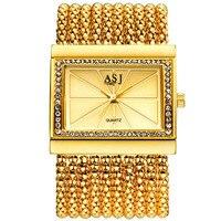 2016 ASJ Brand Lady Bracelet Watches Women Luxury Fashion Casual Wristwatch Clock Dress Quartz Wrist Watch