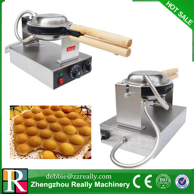 220V Elektrisch Ei Kuchen Egg Waffle maker Edelstahl Puff Bubble Baker DE DHL