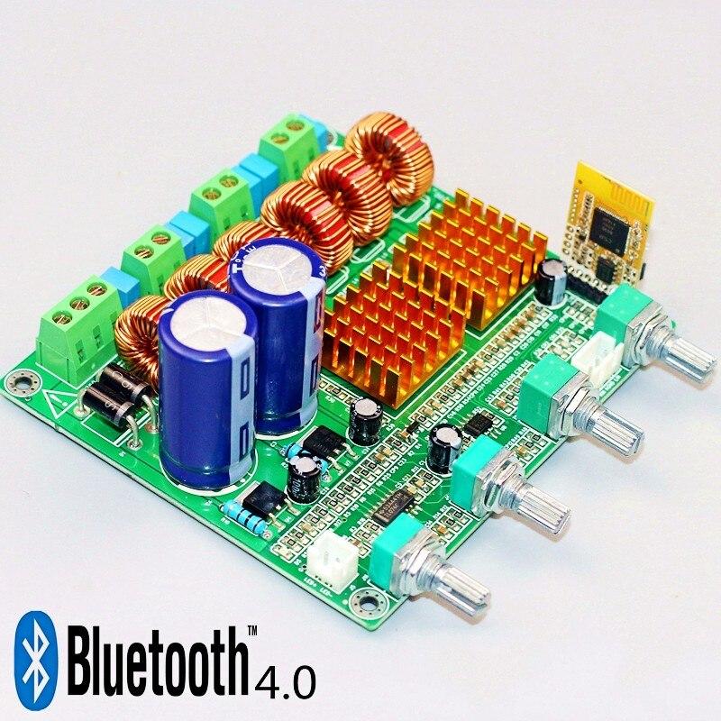 bluetooth 4 0 receiver digital 2 1 class d hifi power amplifier board 3ch super bass amp grade. Black Bedroom Furniture Sets. Home Design Ideas