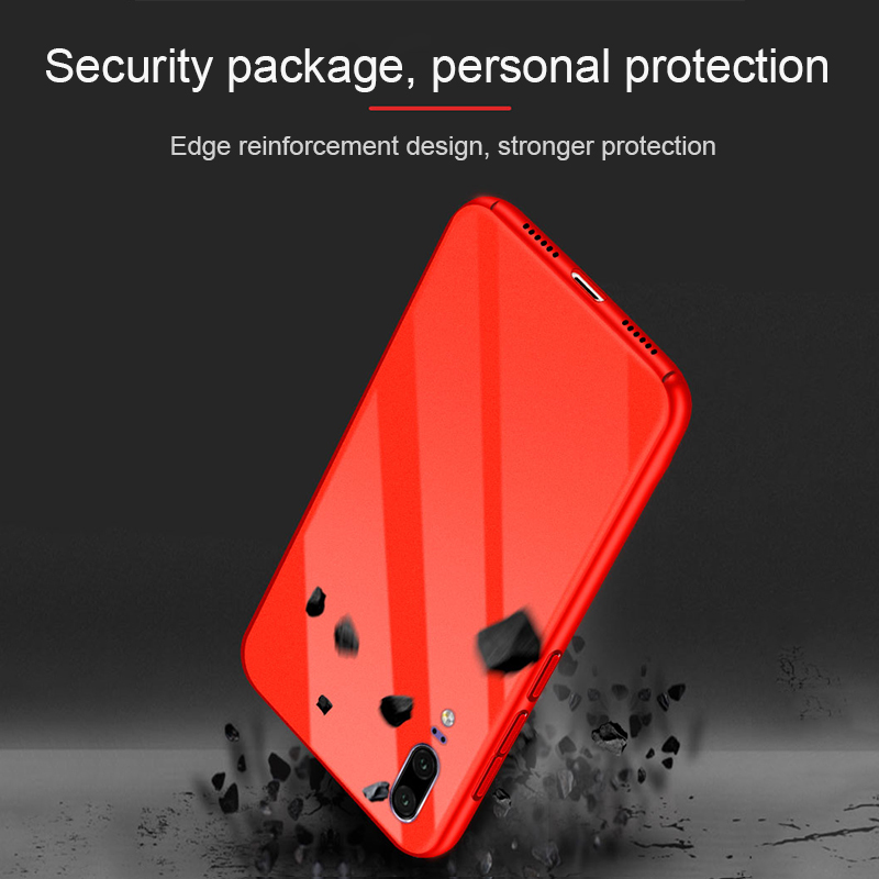 GerTong Hard PC Back Cover Case for Huawei P20 Lite Pro Nova 3E Mate 10 Luxury Smooth Glossy Surface Shell For Honor 10 V10