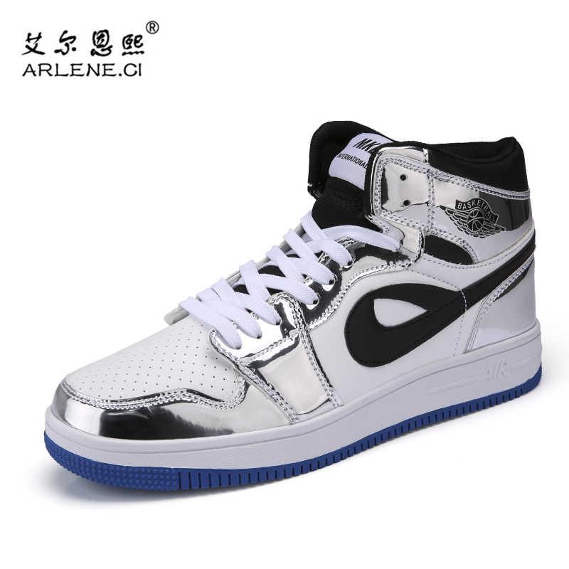 a90970eddf84 ... Plus Size 38-46 Original New Arrival Men Jordan Basketball Shoes AJ1  Outdoor Athletic Sport ...