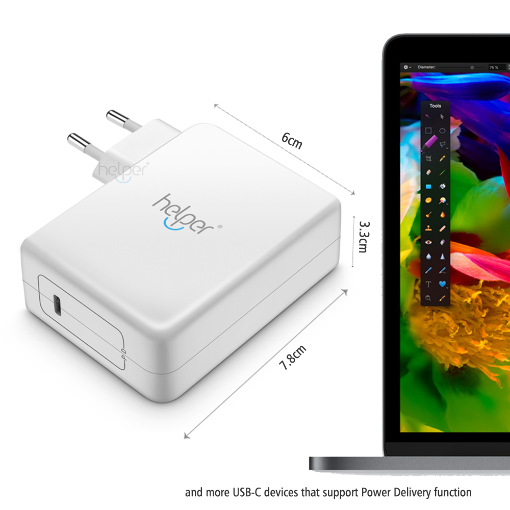 29W 45W 65W USB C тип C Зарядно устройство за - Аксесоари за лаптопи - Снимка 4