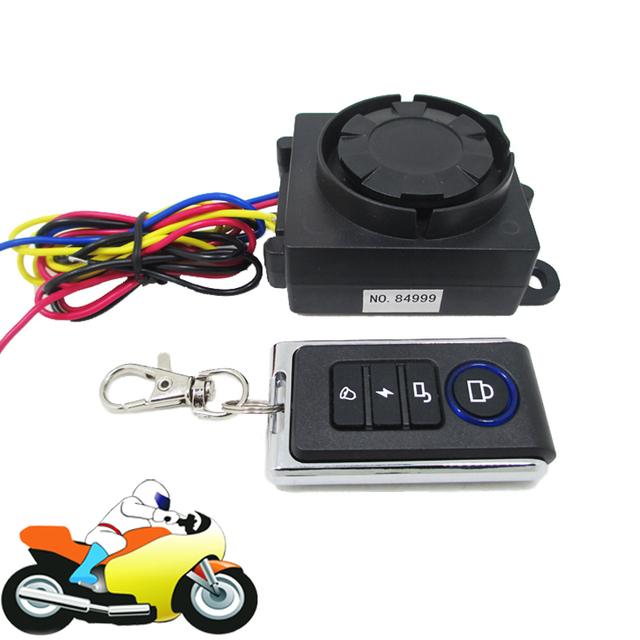 12 V 125dB alto-falante da motocicleta Scooter de alarme Anti roubo sistema de proteção com sinal de volta Funtion