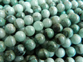 Free shipping (50 beads/set/32g) natural Emerald 7.8-8.2mm smooth round charm gem stone  for jewelry making