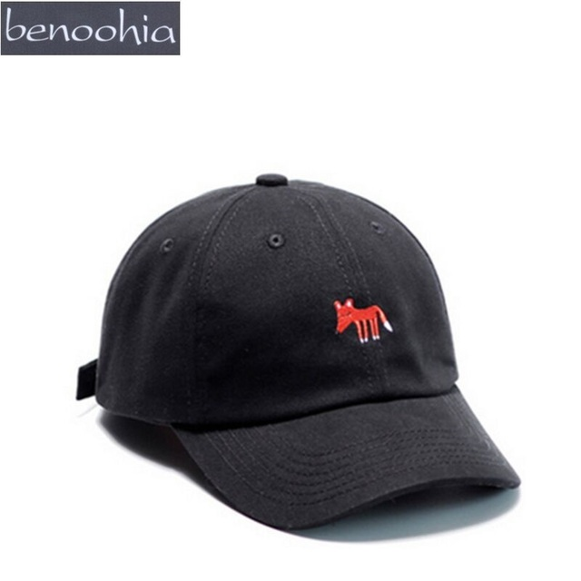 BBS091 Animal Fox Embroidery Curved Baseball Cap Hot Man And Women Casual  Adjustable Sport Snapback Hats Casquette Gorras 92bdb7339940