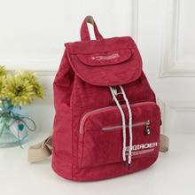 Новый Повседневная легкие женские Рюкзаки Водонепроницаемый 10 Цвета Девушка LadyTravel мешок Мешки нейлоновый рюкзак для ноутбука