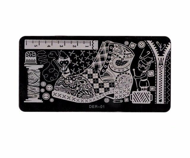 120*60 ММ Набор из 20 nail art metal stamp штамповка плиты ногти польский кружева хны цветок цветочный лист изображения дизайн шаблона трафарет