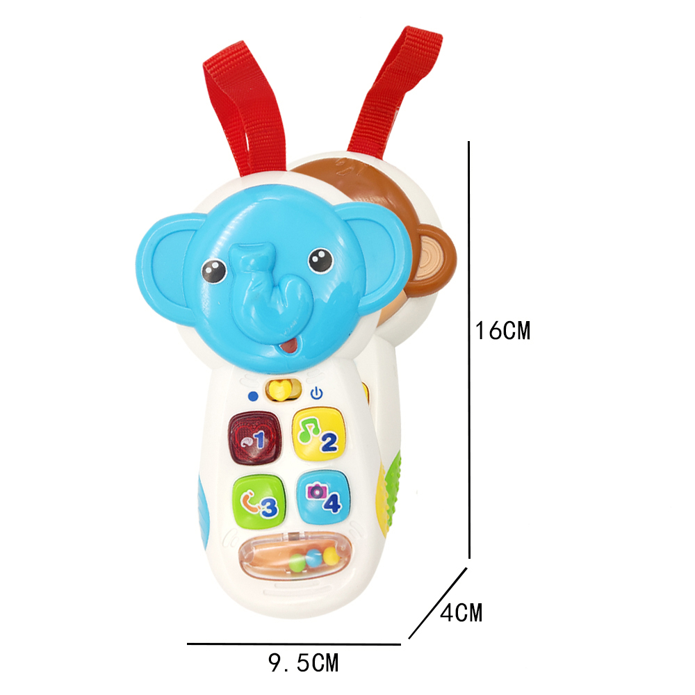 Купить с кэшбэком TOT Kids Lighting Music Animal Toy Mobile Phone Education Interactive GOOD QUALITY Baby Electronic Organ Toy Gifts