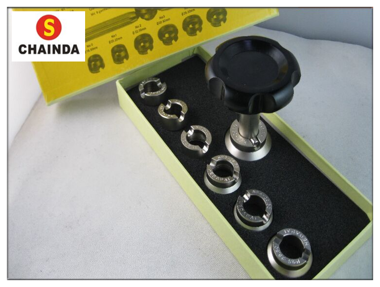 Free Shipping Watch Case Wrench Opener Set 5537 For Rlx 0yster 7 Chuck Die 36.5mm Tool Watch Repair Tool Kit free shipping spiral case pressing tool watch repair tool with 12 rubber head