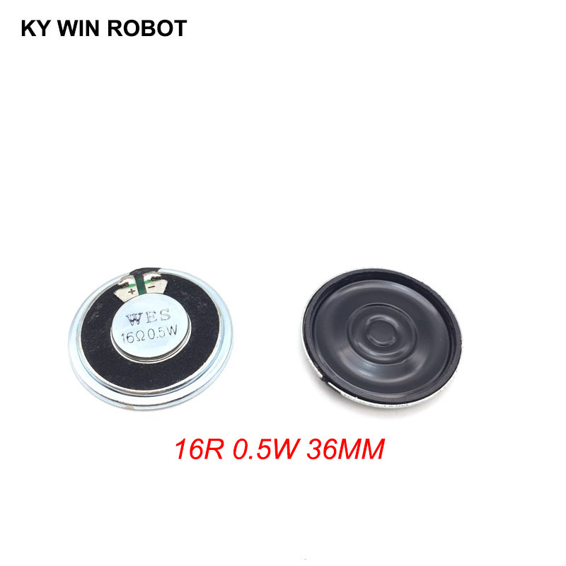 2pcs/lot New Ultra-thin Speaker 16 Ohms 0.5 Watt 0.5W 16R Speaker Diameter 36MM 3.6CM Thickness 5MM