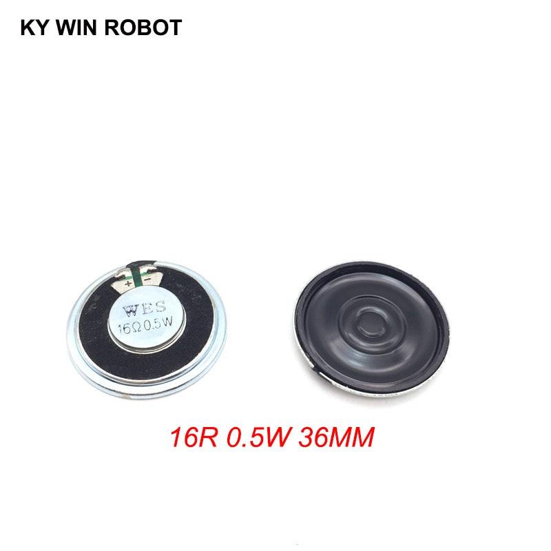 2pcs/lot New Ultra-thin Speaker 16 Ohms 0.5 Watt 0.5W 16R Speaker Diameter 36MM 3.6CM Thickness 5MM