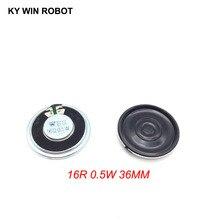 2pcs/lot New Ultra thin speaker 16 ohms 0.5 watt 0.5W 16R speaker Diameter 36MM 3.6CM thickness 5MM