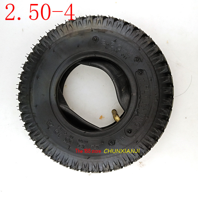 High Performance Motorcycle Parts Tyre Inner Tube 2.50-4 Tire & Tube For Electric Gas Scooter Wheelchair Wheel