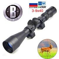 BU 3 9X40 Tactical Optic Sight In Riflescope Rifle Scope Sniper Hunting Scopes Airgun Rifle Outdoor Reticle Sight Scope