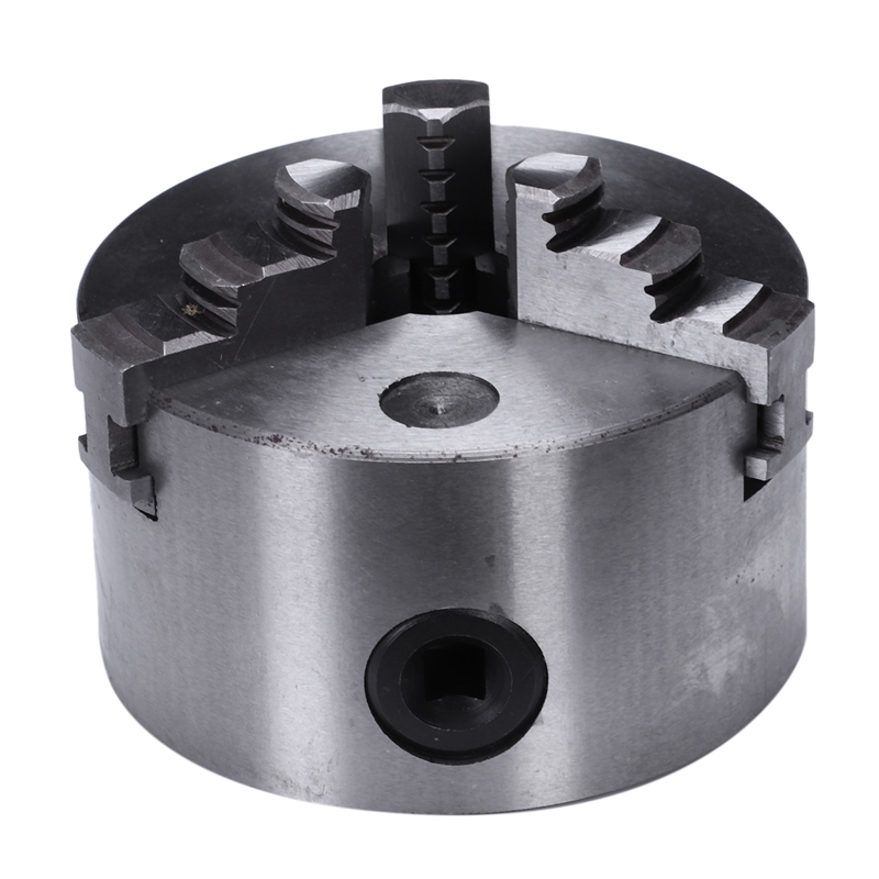 K11-100 3 Jaws Manual Lathe Chuck 100Mm 4Inch Self-Centering Chuck Three Jaws Hardened Steel For Drilling Milling MachineK11-100 3 Jaws Manual Lathe Chuck 100Mm 4Inch Self-Centering Chuck Three Jaws Hardened Steel For Drilling Milling Machine