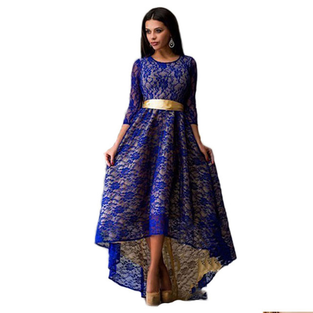 Lace Floor-Length Indian Dress India Elegant Slim Long Sleeve Summer Maxi  Dress O-Neck With Petticoats Party Dress Long    35b0a884d
